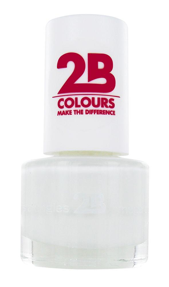 2B Cosmetics NAGELLAK MEGA COLOURS MINI - 2 Snow white