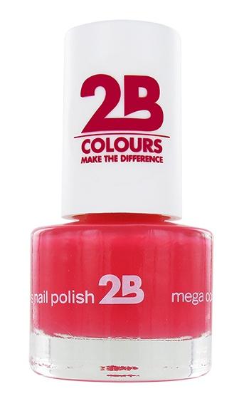 2B Cosmetics NAIL POLISH MEGA COLOURS MINI - 12 American Rose