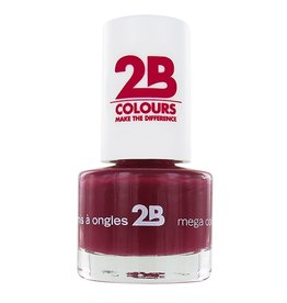 2B Cosmetics VERNIS à ONGLES MEGA COLOURS MINI - 14 Burgundy Velvet