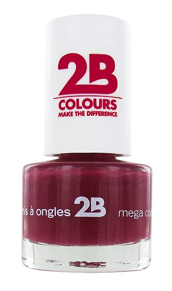 2B Cosmetics NAGELLAK MEGA COLOURS MINI - 14 Burgundy Velvet