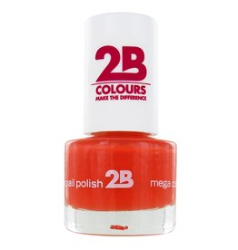 2B Cosmetics VERNIS à ONGLES MEGA COLOURS MINI - 17 Crazy Orange