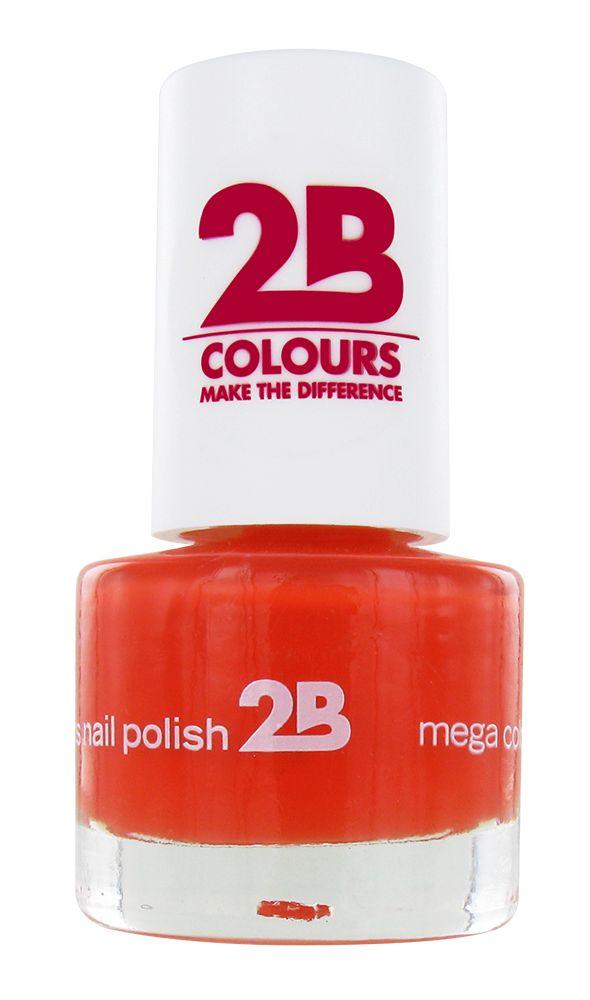 2B Cosmetics NAGELLAK MEGA COLOURS MINI - 17 Crazy Orange