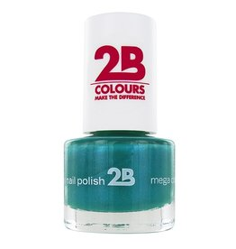 2B Cosmetics NAGELLAK MEGA COLOURS MINI - 26 Jade Green