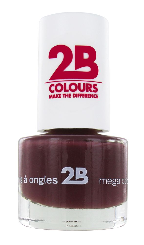 2B Cosmetics NAGELLAK MEGA COLOURS MINI - 33 Dark Chocolate