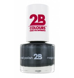 2B Cosmetics NAGELLAK MEGA COLOURS MINI - 34 Magic Silver