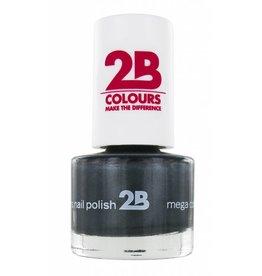 2B Cosmetics VERNIS à ONGLES MEGA COLOURS MINI - 34 Magic Silver