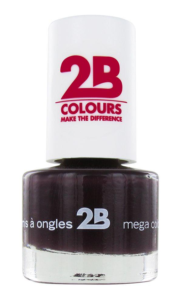 2B Cosmetics NAGELLAK MEGA COLOURS MINI - 35 Black Devil