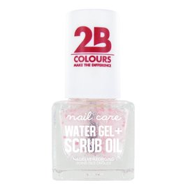 2B Cosmetics NAGELVERZORGING MEGA COLOURS MINI - 68 Watergel + Scrub oil