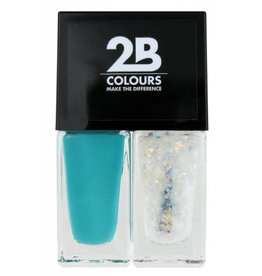 2B Cosmetics Vernis à Ongles Duo - Green & glitter