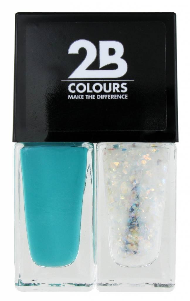 2B Cosmetics Nail polish Duo - Green & glitter