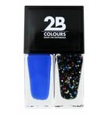 2B Cosmetics Nagellak Duo - Electric blue & crazy dots