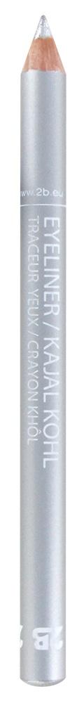 2B Cosmetics Eyeliner / Kajal Pencil - 28 Solid silver