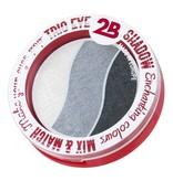 2B Cosmetics TRIO EYE SHADOW MIX & MATCH - WHITE/GREY/ANTHRACITE