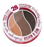 2B Cosmetics TRIO EYE SHADOW MIX & MATCH - ORANGE/BROWN