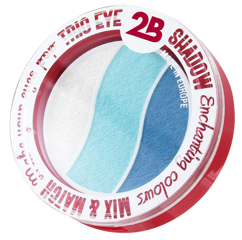2B Cosmetics TRIO EYE SHADOW MIX & MATCH - WHITE/AZURE/BLUE