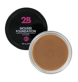 2B Cosmetics MOUSSE FOUNDATION 01 Naturel
