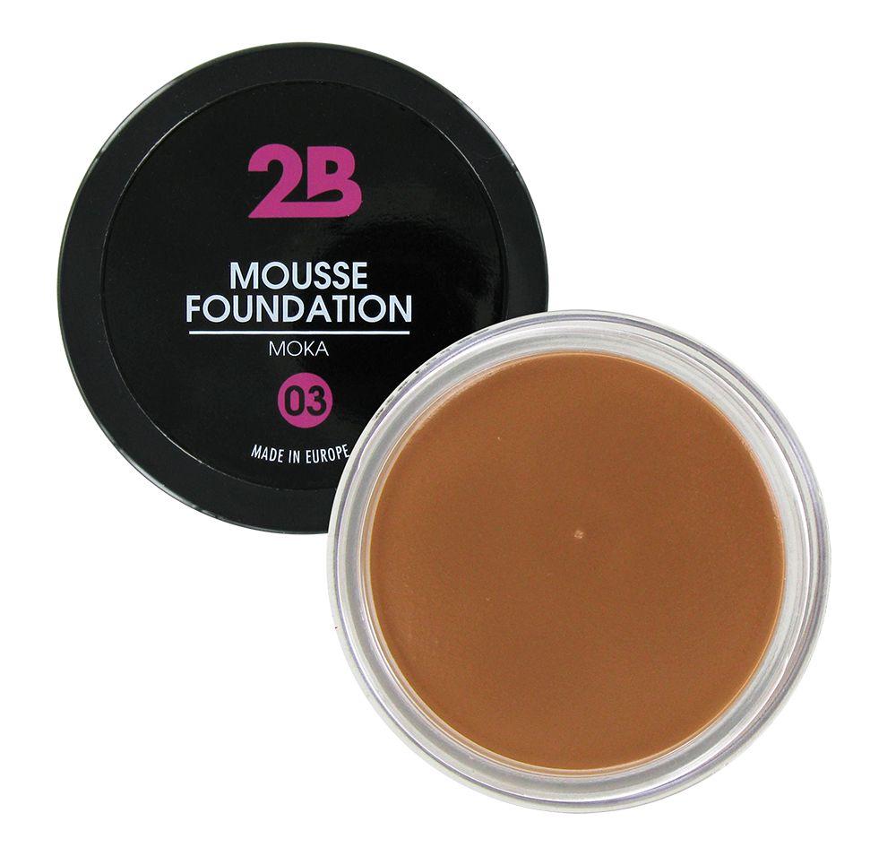 2B Cosmetics MOUSSE FOUNDATION 03 Moka