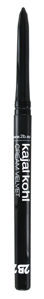 2B Cosmetics Kajal Cream Velvet - 01 Black