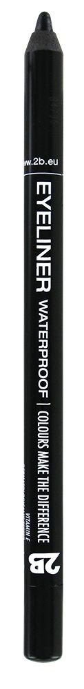 2B Cosmetics Eyeliner waterproof - 07 Black
