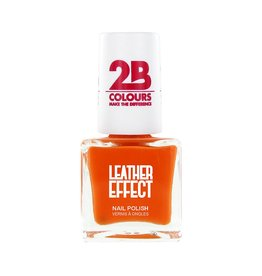2B Cosmetics Nail Polish Leather Effect 616 Orange