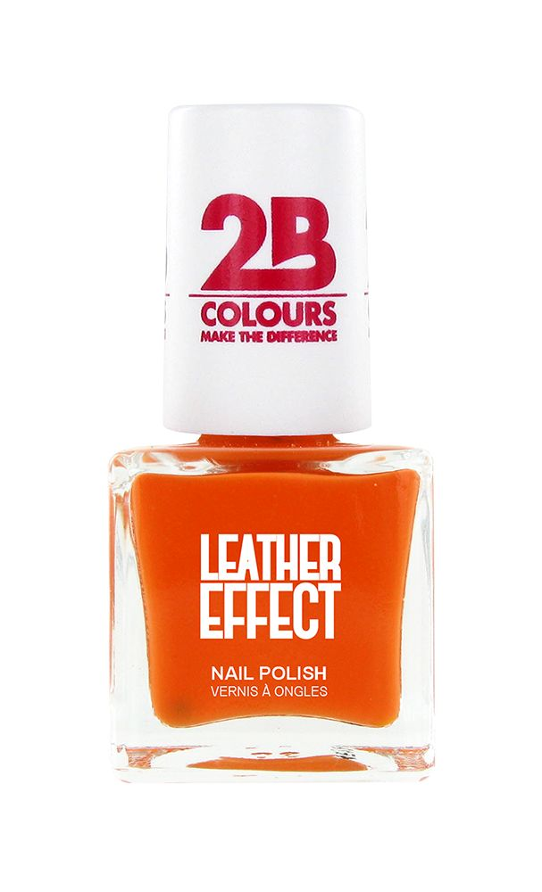 2B Cosmetics Nail Polish Leather Effect 616 Orange
