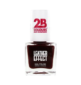 2B Cosmetics Vernis à ongles Leather Effect 618 Bordeaux