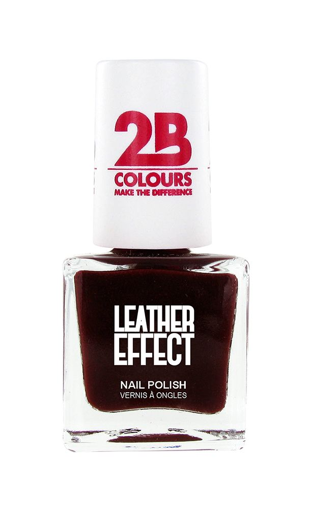 2B Cosmetics Nagellak Leather Effect 618 Bordeaux