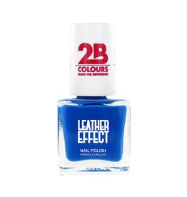 2B Cosmetics Nagellak Leather Effect 620 Azure Blue