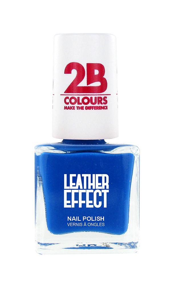 2B Cosmetics Nagellak Leather Effect 620 Azure Blue