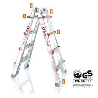 Waku Multifunctionele Ladder 4x4