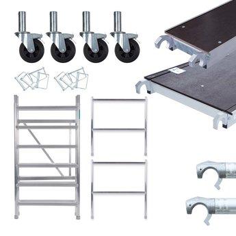 Euroscaffold kamersteiger 90 cm breed + platform 30 cm + uitbreiding A