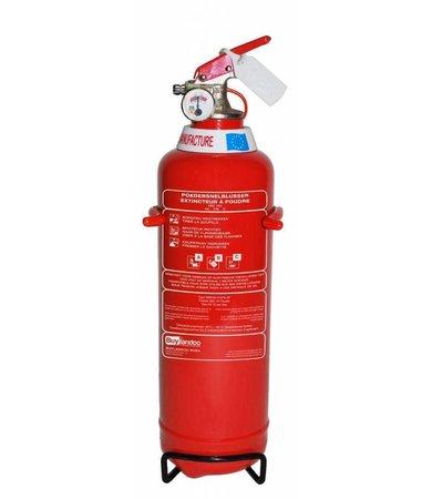 FireDiscounter Fire extinguisher powder (ABC) 1kg - BENOR V-label