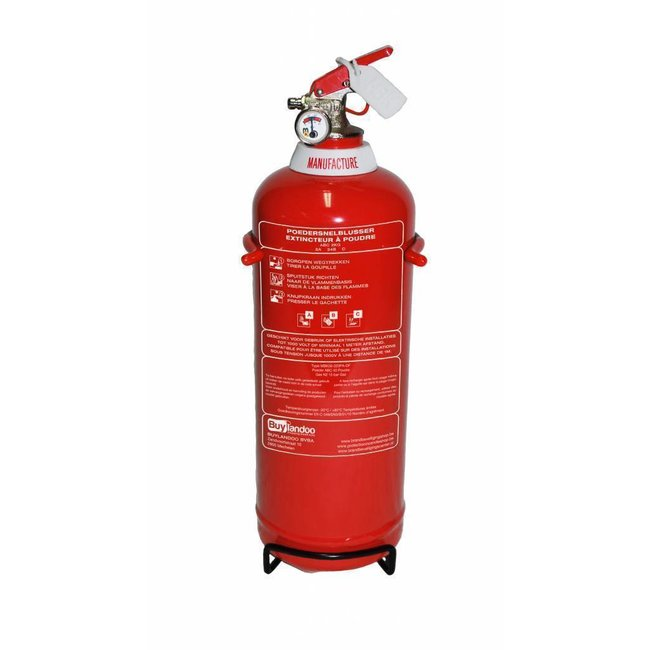 FireDiscounter Fire extinguisher powder 2kg for vehicles with BENOR V-label (ABC)