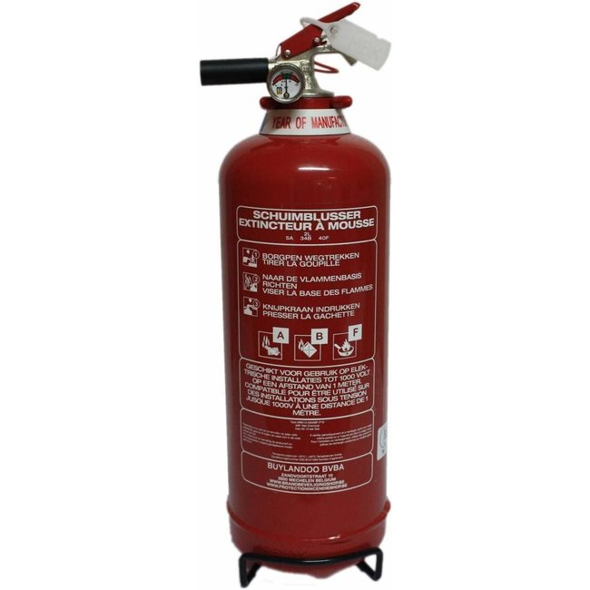 FireDiscounter Foam fire extinguisher-fat frost-free 2l with BENOR-label (ABF)