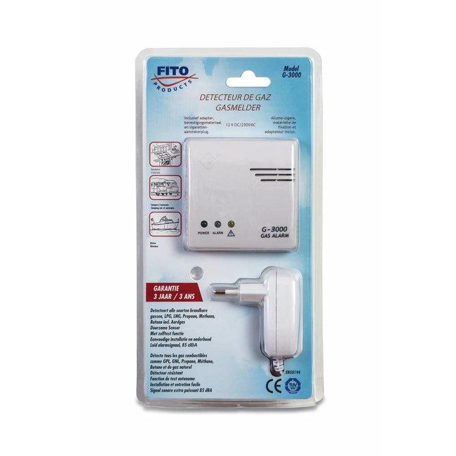 FITO FITO gas detector 230V / 12V with plug