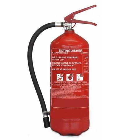 FireDiscounter Extincteur à poudre pour véhicules 6kg avec BENOR V (ABC) pression permanente