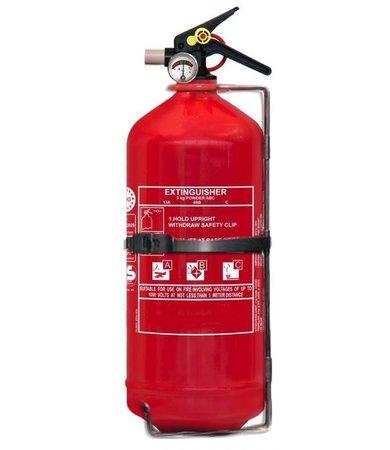 FireDiscounter Extincteur à poudre pour véhicules 3kg avec BENOR V (ABC) pression permanente