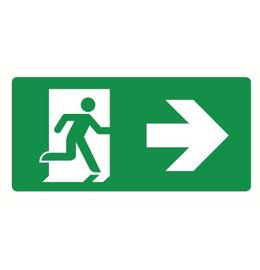 Pictogram emergency exit right