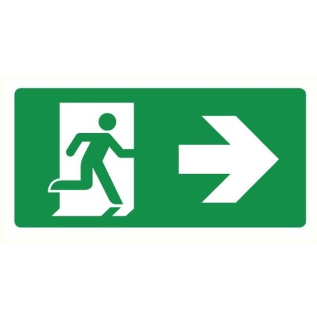 Pikt-o-Norm Pictogram emergency exit right