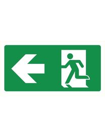 Pikt-o-Norm Pictogram emergency exit left