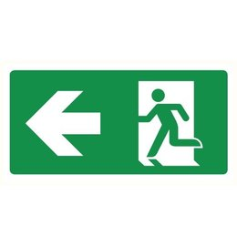 Pictogram emergency exit left