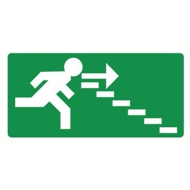 Pikt-o-Norm Pictogram emergency exit stairs right