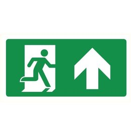 Pictogram emergency exit straight on