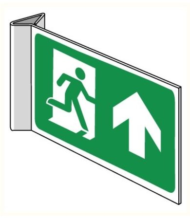 Pikt-o-Norm Pictogram emergency exit straight on