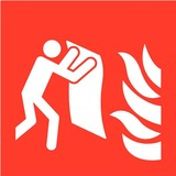 Pictogram fire blanket