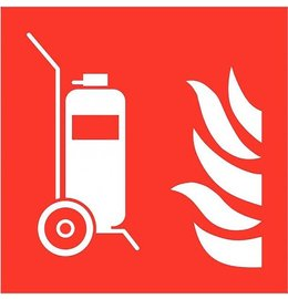 Pictogram extinguisher trolley