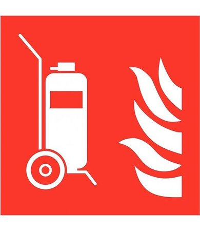 Pikt-o-Norm Pictogram extinguisher trolley