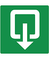 Pikt-o-Norm Pictogram exit outward turning