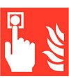 Pikt-o-Norm Pictogramme point d'alarme incendie