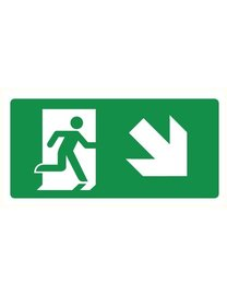 Pikt-o-Norm Pictogram emergency exit down right
